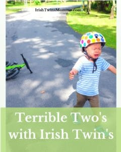 terrible twos with irish twins pin