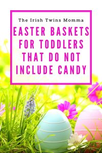 toddler easter baskets by the irish twins momma