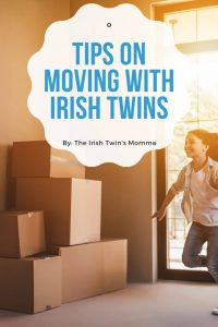 Moving with irish twins pin