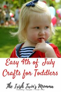 Toddler with red, white, and blue