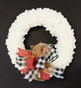 Fall and Christmas Wreath DIY (loop wreath and easy bow)