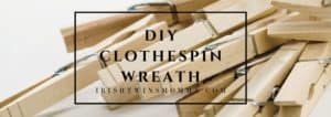 Clothespin wreath header