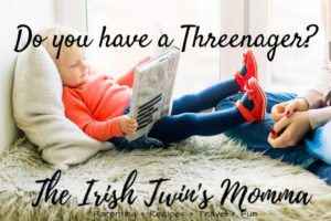 Do you have a threenager banner- Irish Twin's Momma