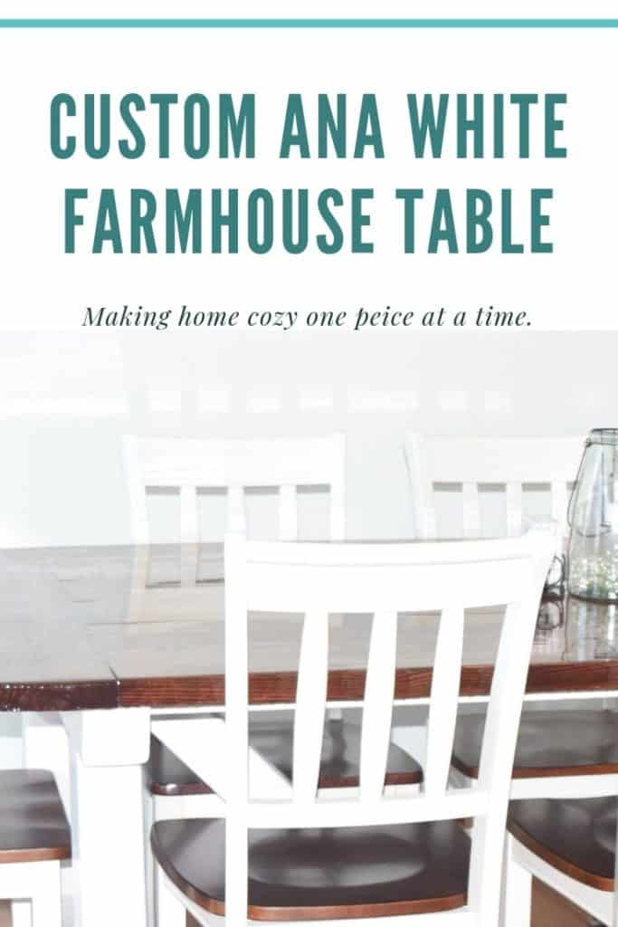 Seal a beautiful Farmhouse table with epoxy to have an elegant and rustic dining room table that can last with design by Ana White and made with solid wood. #farmhouse #rustic #farmhousetable via @irishtwinsmom11
