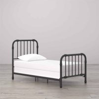 antique black metal bed frame