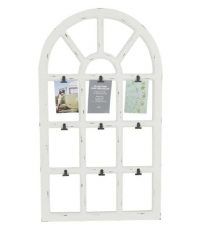 rustic window with clips