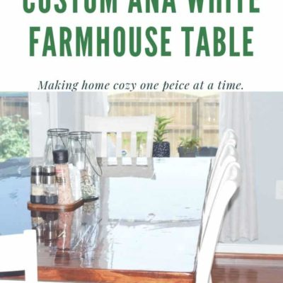 Custom Ana White Farmhouse Table