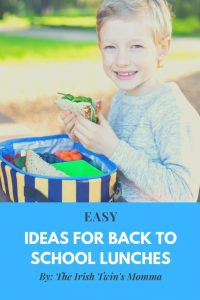 EASY Ideas for Back to School Lunches- Make lunch fun, healthy, and creative all with these easy ideas to provide your child with great nutrition.