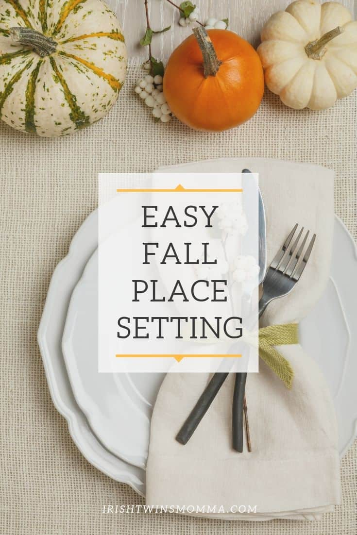 Easy Fall Place Setting