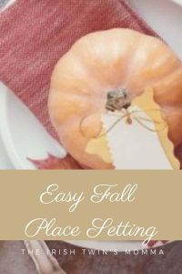 Easy fall place setting ideas