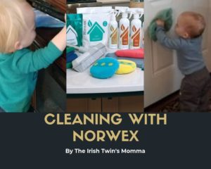Cleaning with norwex with irish twins