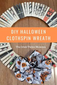 Halloween Clothespin Wreath