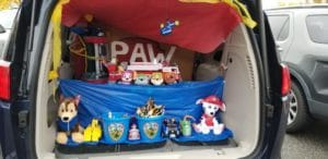 Paw Patrol Trunk or Treat final product