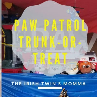 Paw Patrol Trunk or Treat pin