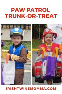 Paw Patrol Trunk or Treat reaction