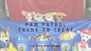 Banner for Paw Patrol Trunk or Treat post
