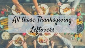 banner for all those thanksgiving leftovers