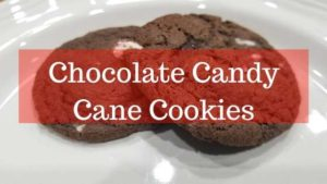banner for chocolate cndy cane cookies