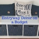 Entryway decor on a budget logo