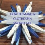 How to make a clothespin snowflake by The Irish Twins Momma