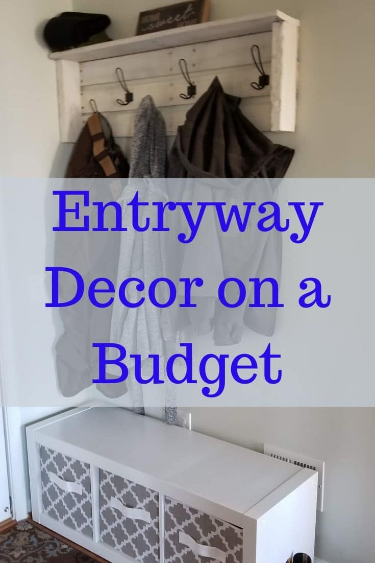 Transform your entryway into an inviting place for guests to leave their shoes and hang their coats when coming in from the elements. via @irishtwinsmom11