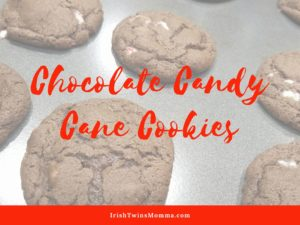 poster chocolate candy cane cookies