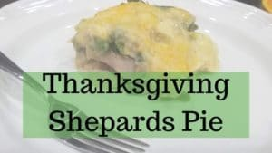 Thanksgiving Shepards Pie