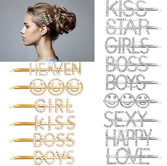 personalized hair pins