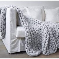 Chunky Knit Homemade Blanket