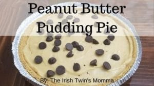 banner for peanut butter pudding pie