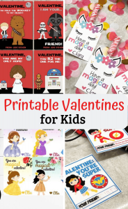 printable valentines day cards by Dresses and Dinosaurs