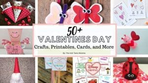 50+ Valentines Day Crafts, Printables, Games, and More by the Irish twins momma