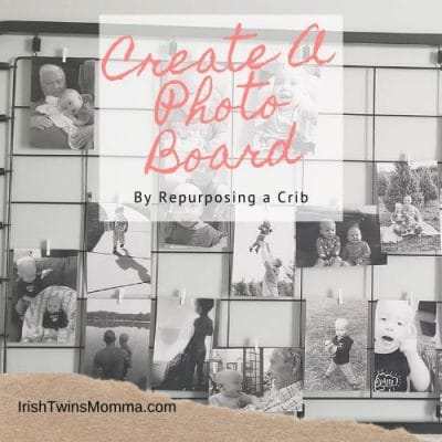 Create A Photo Board by Repurposing a Crib