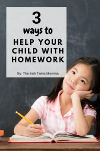 ways to help your child with homework by the irish twins momma