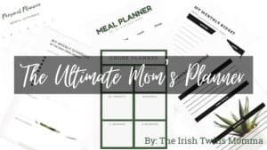 The ultimate moms planner banner by the irish twins momma
