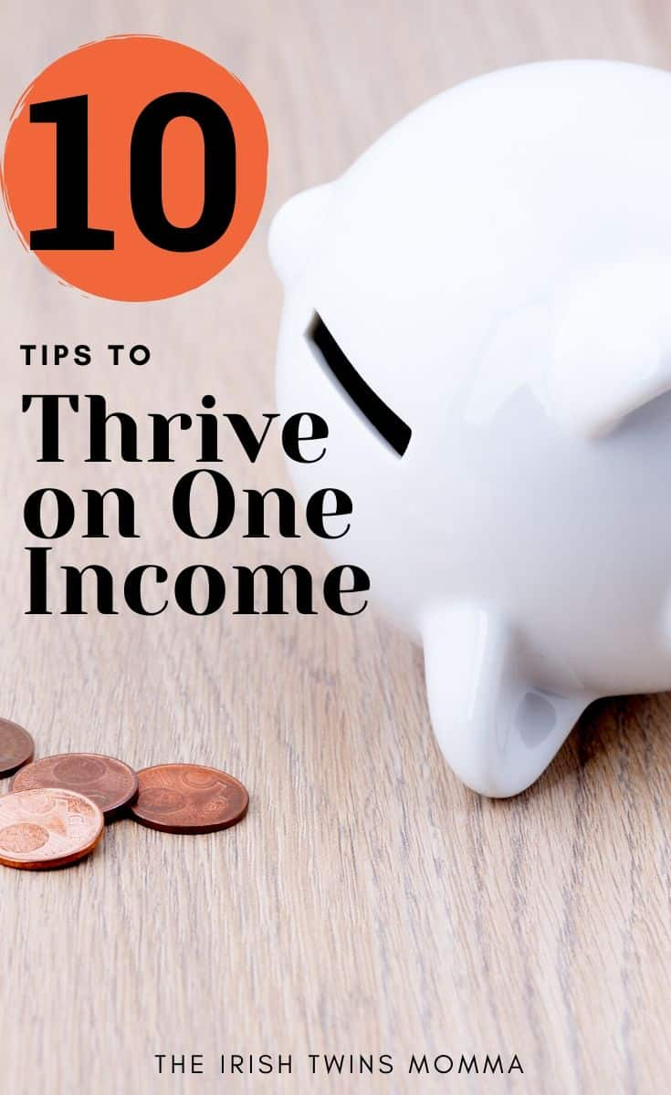 The best tips to survive on a single income and still live comfortably. via @irishtwinsmom11