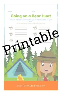 Going on a Bear Hunt Printable 1