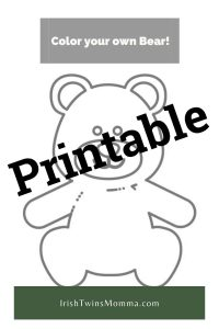Printable Bear Coloring Sheet