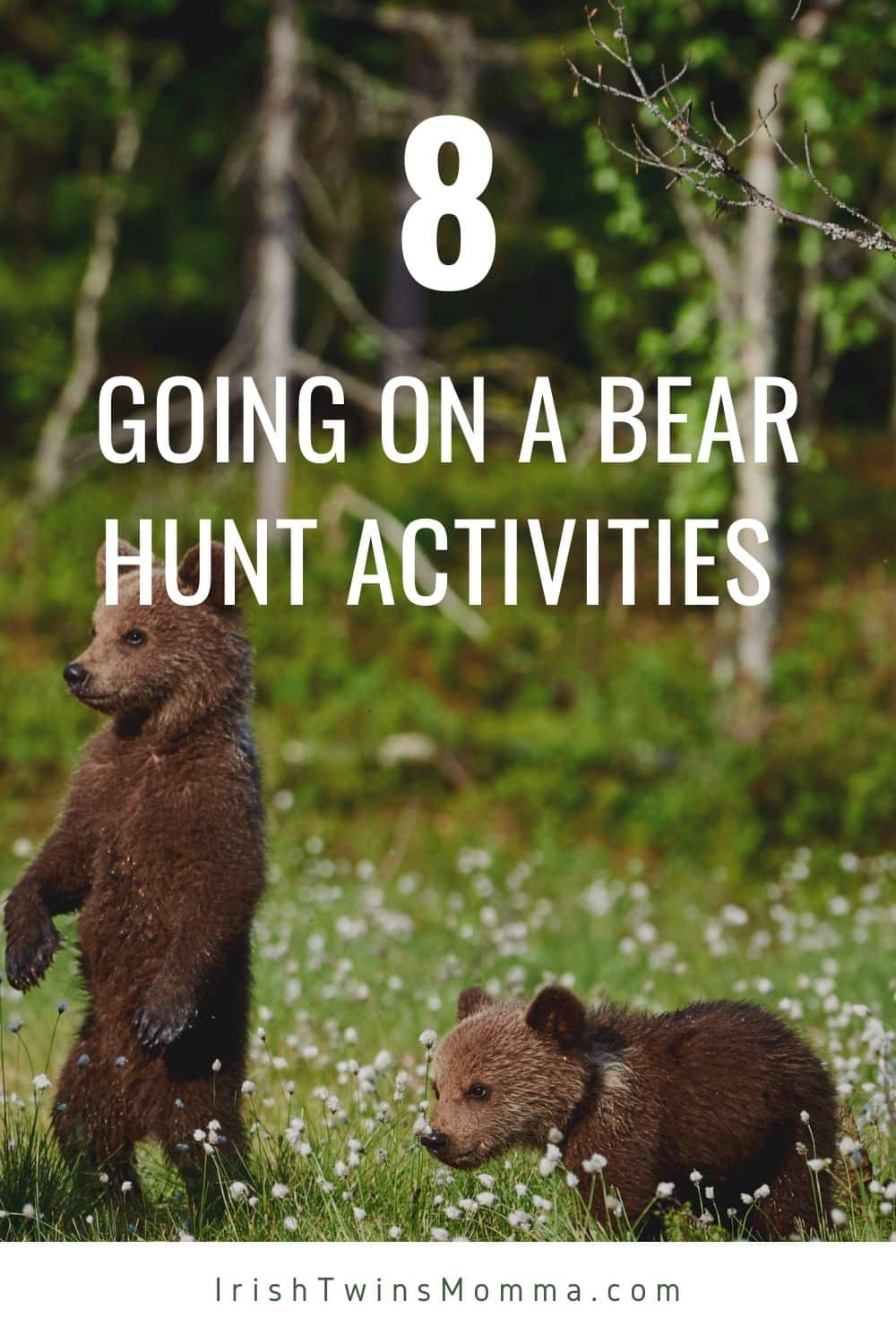 The best 8 activities to help your preschooler learn after reading Going on a Bear Hunt by Michael Rosen that includes several FREE printables. via @irishtwinsmom11