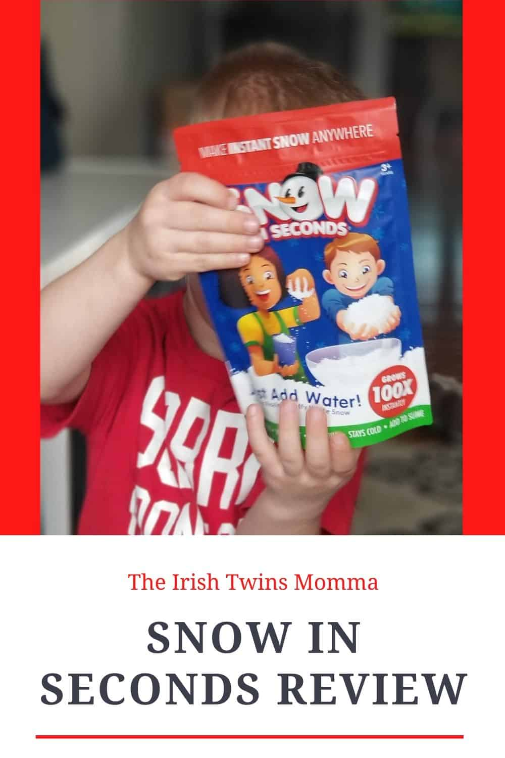 Snow in Seconds is a family-owned business that is the creator of the original fake snow. Their product is made in the U.S. and is the only instant snow that grows 100 times its size in just seconds. via @irishtwinsmom11