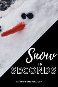 Snow in Seconds Review by the Irish Twins Momma