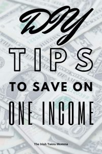 DIY Tips to save on one income