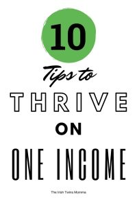 10 tips to survive on one income