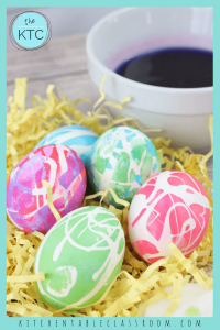 Coloring Easter eggs with Rubber Cement