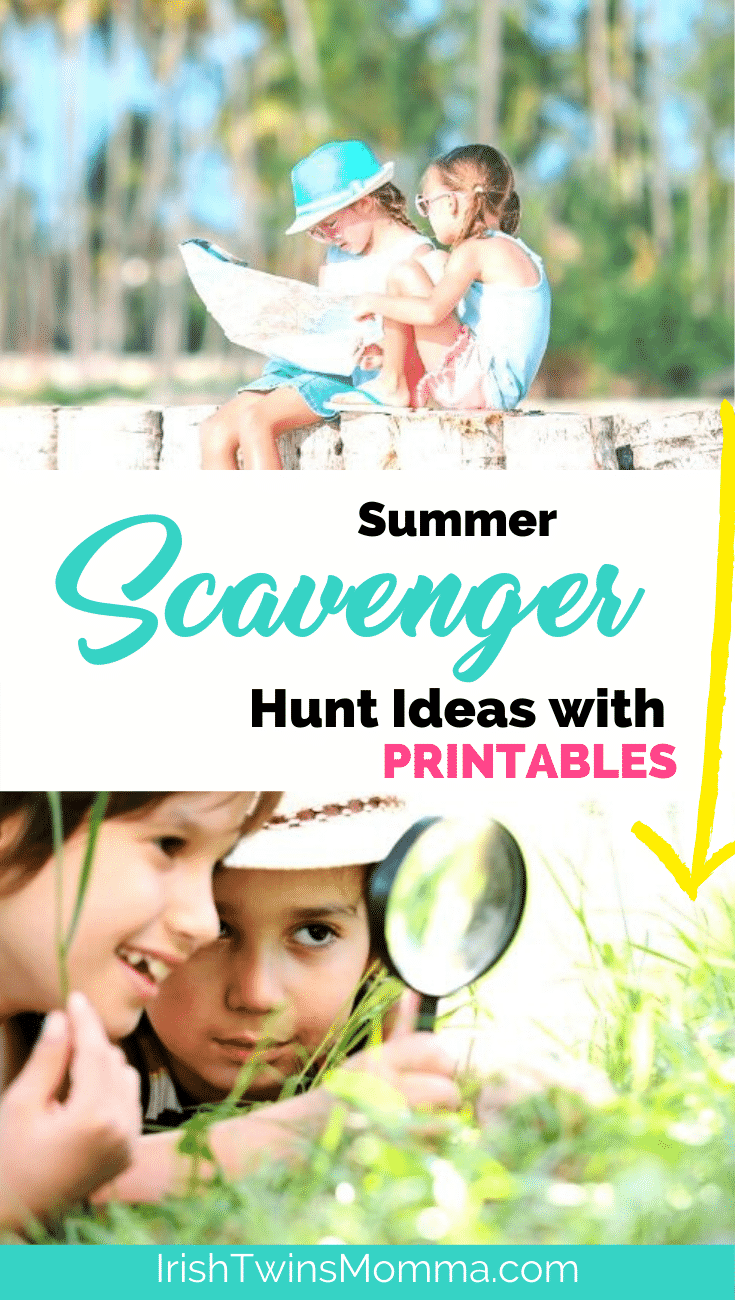 Summer Scavenger hunt ideas with printables by the irish twins momma
