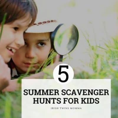 5 Summer Scavenger Hunt Ideas for Kids with Printables