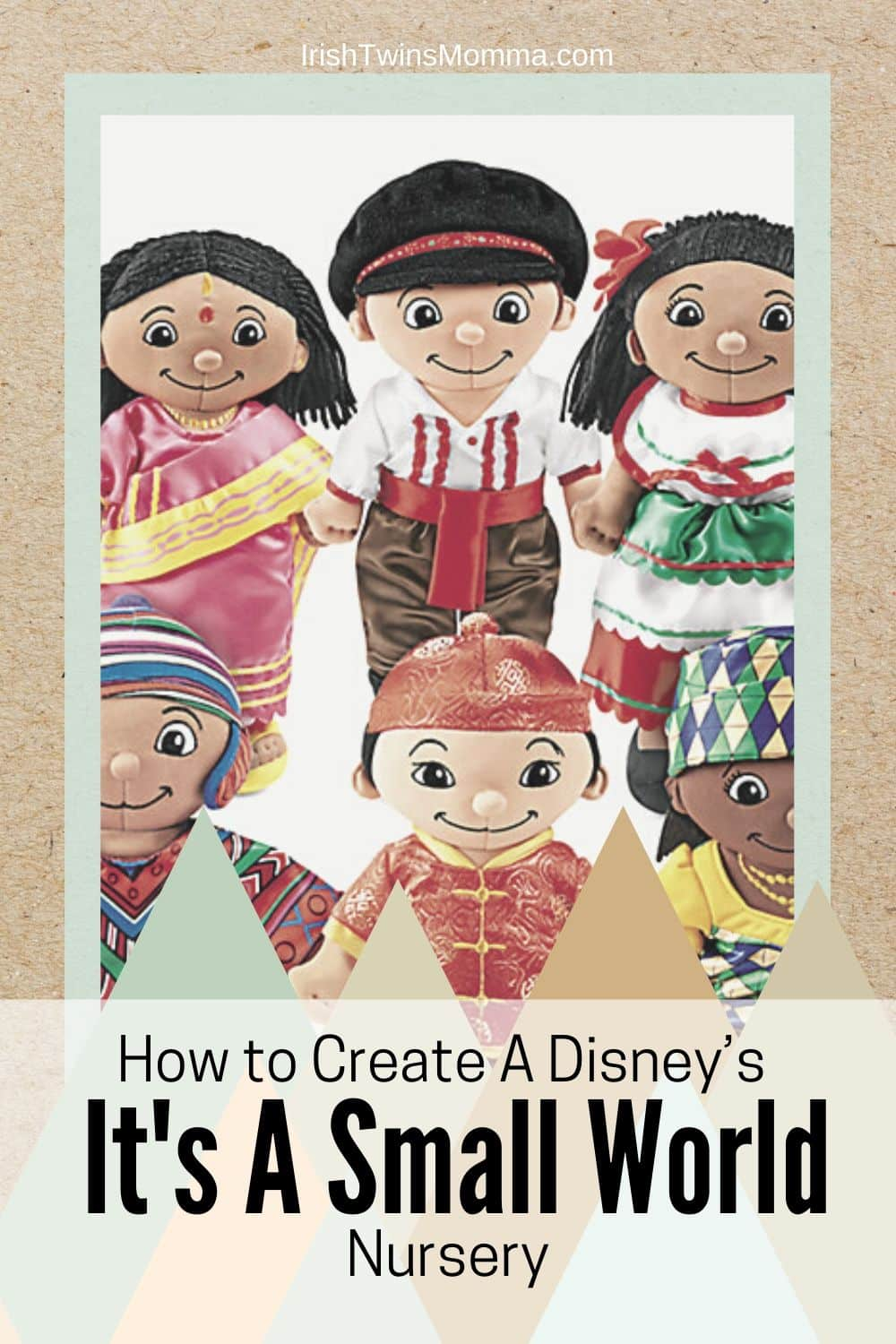 "With unique embroidered features and beautiful, authentic costumes, our dolls help children explore cultures from all over the world! Each soft-sewn doll has a permanently attached outfit and is fully machine-washable...and super-cuddly! Complete set includes all 6 dolls shown; each measures 12"" tall. Each doll also available separately below. via @irishtwinsmom11"