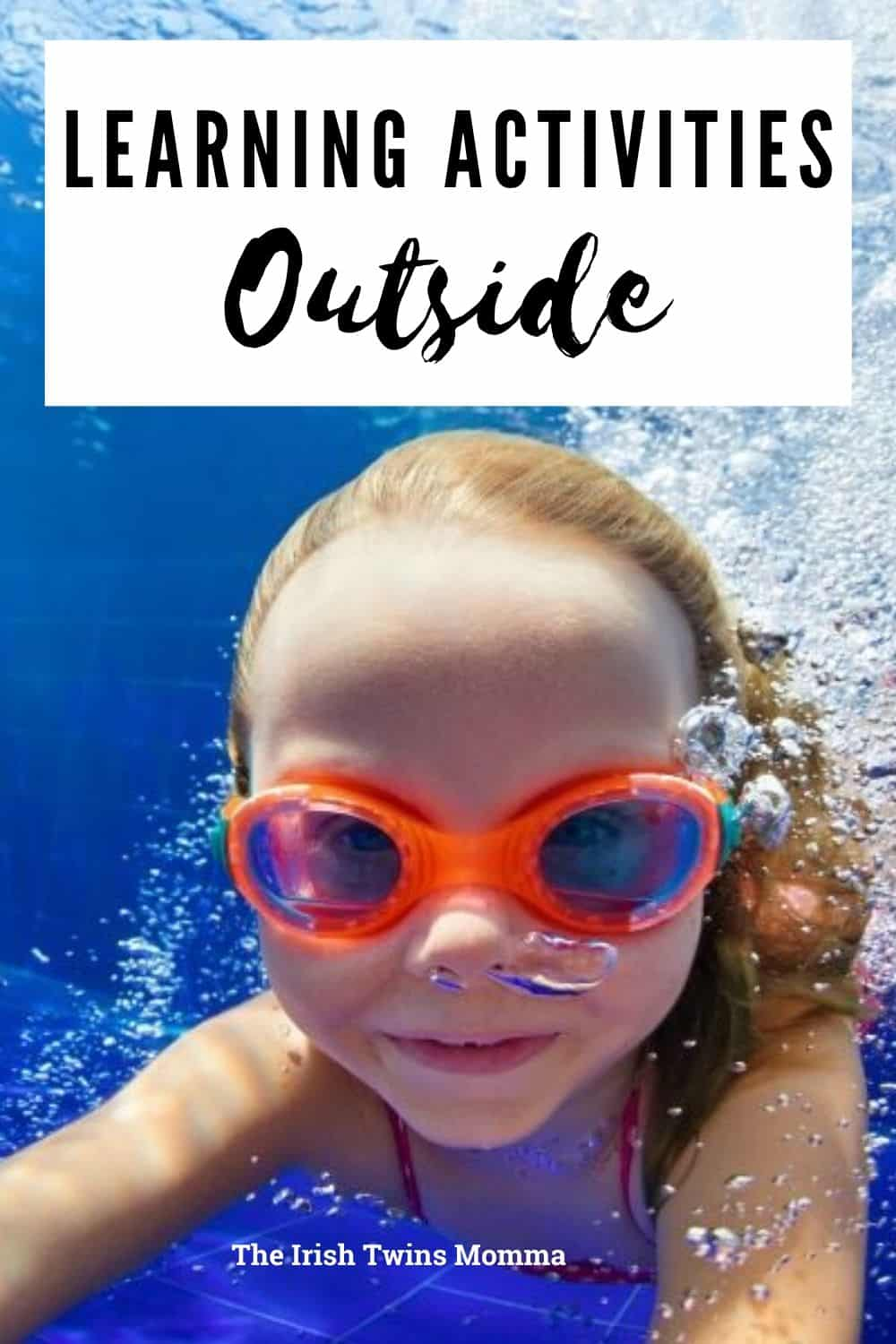 Getting the kids outside is a great way to encourage fun while learning. It's free and the possibilities are endless. Summer months are hot, right? So let's start with some pool fun!