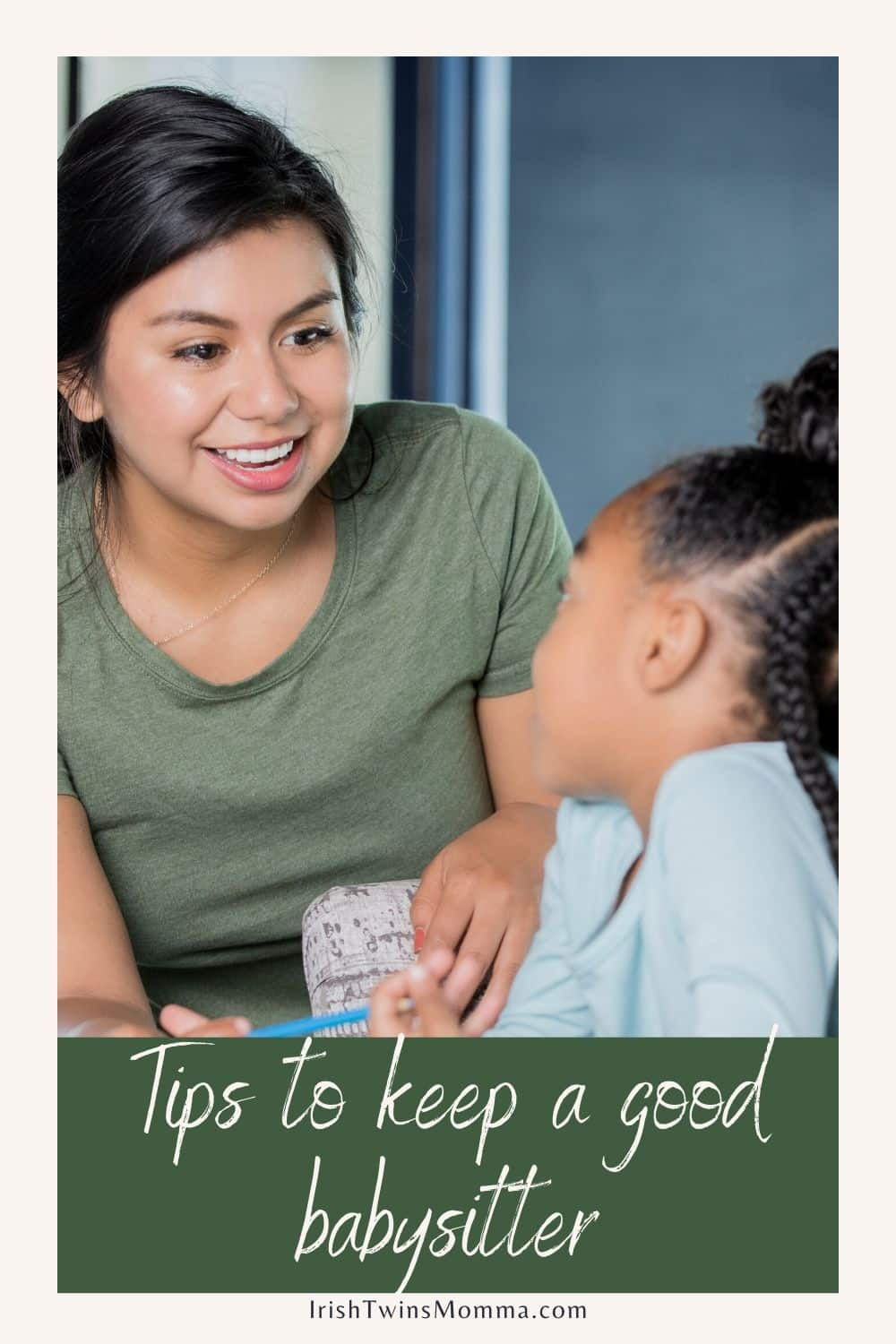 Choosing someone who will care for and protect your children, as well as get along well with them, is no easy task. However, there are plenty of resources available to help you find the right sitter. Take the time to interview them and watch them interact. via @irishtwinsmom11