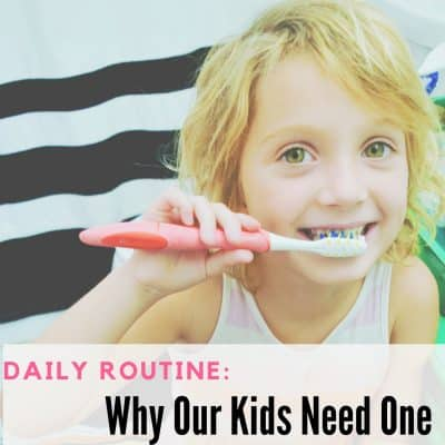 Daily Routines: Why Our Children Need Them